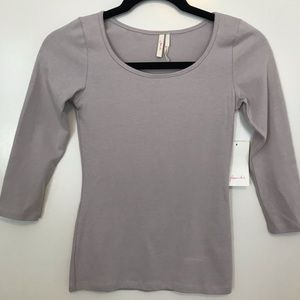 French Mauve 3/4 Sleeve Top